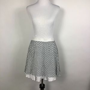 WAYF Black and White Mini Peasant Skirt